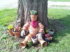 clay pot people garden | Clay Pot People Garden Flower Crafts Forum Gardenweb Pictures