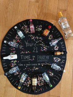 Time to party! Shot clock 21st birthday! Someone make this for me!!!!!!!!