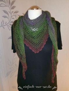 Gehäkeltes Dreieckstuch Josephine 2.0 Kostenlose Anleitung Crochet triangle scarf