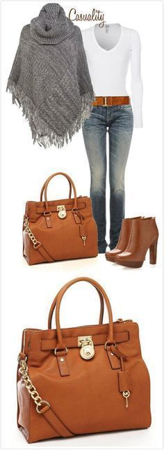 Super cute fall outfit with Michael Kors bag