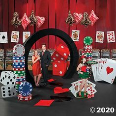 Host a casino night with fun casino party supplies from Oriental Trading. Find casino theme party ideas and decorations to turn a poker party or fundraiser into a casino night. Casino Party Decorations, Casino Theme Parties, 40th Birthday Parties, Party Themes, Party Ideas, Reunion Decorations, Party Events, 9th Birthday, Theme Ideas