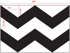 chevron template with measurements