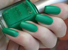 Green, Glaze & Glasses: Kiko Boulevard Rock Collection - Denim Nail Lacquer - 463 Evasion Lawn Green