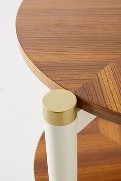 Slide View: 3: Geo-Marquetry Side Table