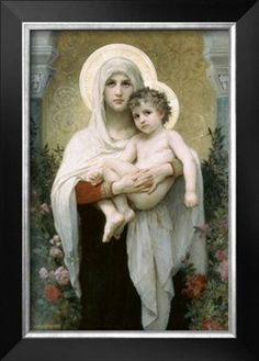Madonna of the Roses Premium Poster by William Adolphe Bouguereau at Art.com