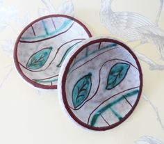 Marzi and Remy Dish Pair Design 5501 Vintage Mid-Century Modernist Ceramics Home Decor Interiors by BelieveToBeBeautiful on Etsy