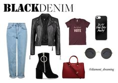 """BlAck deninm"" by evelinvalenciagomez on Polyvore featuring moda, Boohoo, Topshop, MICHAEL Michael Kors y Off-White"