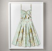 Hand-Folded Vintage Map Dress | OBSESSSSSSSED with this for Raleigh's room.