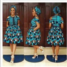 African Print Midi Dress plus FREE Headwrap - Ankara - African Dress - Handmade - Africa Clothing - African Fashion Ankara Short Gown Styles, Short Gowns, Latest Ankara Styles, Ankara Gowns, Ankara Dress, Ankara Fabric, Robes Ankara, Dress Styles, African Print Dresses