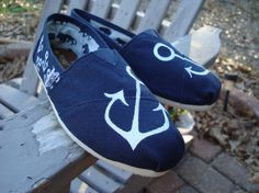 anchors painted on TOMS shoes by ArtfulSoles on Etsy, $85.00