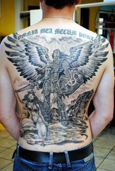 Warior angel backpiece - 60 Holy Angel Tattoo Designs  <3 !