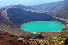 Okama Lake: Formed by a complex volcanic eruption in the 18th century, this natural treasure of Japan measures about 1,200 feet in diameter and 200 feet in depth.