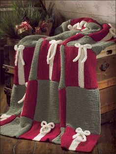 INSPIRATION.  This is a knitted pattern, but I think the idea could easily be adapted to a favorite crochet stitch!