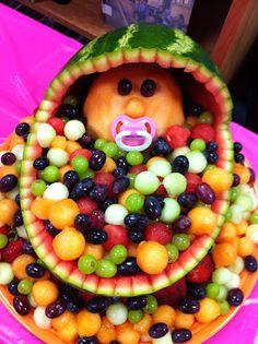 Fun baby shower fruit bowl!