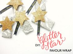 Glitter Star Favour Wraps by Berinmade, Prepared for the Love My Dress Wedding Blog