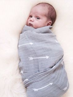 ORGANIC Muslin Cotton Swaddle Blanket Wrap - Baby Arrow Design by Ocean & Friends by OceanAndFriends on Etsy https://www.etsy.com/listing/225292789/organic-muslin-cotton-swaddle-blanket
