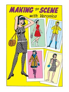Archie Comics Fashions: Making The Scene With Veronica Art Print