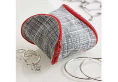 This Pouch is a Puzzle Piece and easy to make using Coats zippers.