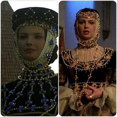 """From polish historic movie, """"Queen Bonna"""". Theatre Costumes, Movie Costumes, Historical Costume, Historical Clothing, Middle Ages Clothing, Old School Fashion, Fairytale Fashion, Medieval World, Medieval Costume"""