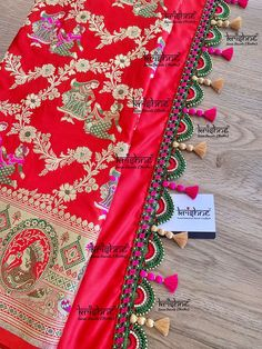 Customised Saree Kuchu & Pallu designs handcrafted to complement your precious silk sarees for celebrating your once in a life time events. Krishne's designer tassel kuchus are our premium offering that are crafted using a combination of handcraft techniques like Aari, Crochet, Tatting, Hand Embroidery, Maggam, Zardozi etc and are in the price range of ₹ 500 ~ 6500. Click www.krishnetassels.com to see all the kuchu types, price range & whatsapp 9916253832 to place your order.. Saree Tassels Designs, Saree Kuchu Designs, Saree With Belt, Saree Belt, Banarsi Saree, Silk Sarees, Saree Blouse Patterns, Signature Design, Design Crafts