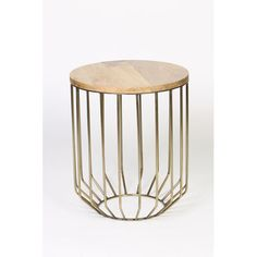 Antique Brass Wire Frame Accent Table With Tapered Base Prima Drum Tables Accent Tables Li