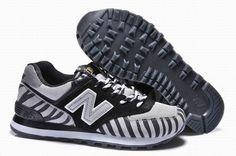 Joe New Balance WL574 Grey Black Stripe 2014 Women Shoes