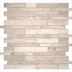 MS International White Quarry White Quarry Interlocking / Pattern / Honed