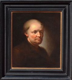 #Portrait of a Man, C. #Dietrich (1712-1774). Oil on canvas. Frame in blackened wood Dutch style. #18th century. Christian Wilhelm Ernst Dietrich (1712-1774) was a German painter born in Weimar considered an imitator of genius of the great masters of the 17th century. For sale on #Proantic by Galerie Signatures.