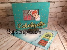Today I have a Birthday card I made using Art Impressions Eat itself stamp and die set , this card has lots of fun surprises . first off when she got it the envelope was eye candy… Art Impressions Stamps, Eye Candy, Birthday Cards, Candles, Blog, Fun, Handmade, Bday Cards, Hand Made