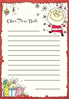 la lettre au pere Noel - Photo de à imprimer - des p'tits riens