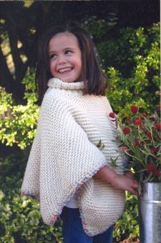 free child's poncho knitting pattern | Child's Poncho – Free Knitting Pattern for a Poncho in Baby and