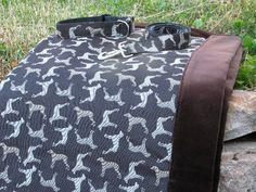 IsabellaCane.com Isabella Cane Wegman dog blanket collar and leash in Rotator