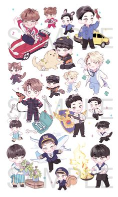 Pin by lama abu saad on kpop fanart ** in 2019 чиби, фан арт Kpop Exo, Exo Kokobop, Chanyeol Baekhyun, Chanbaek, Kaisoo, Kpop Fanart, Chibi Bts, Exo Cartoon, Exo Stickers