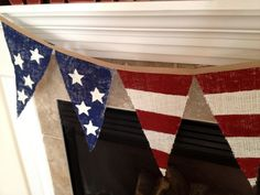 Independence Day burlap banner from The Copycat Crafter