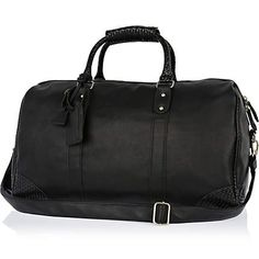 Black Life of Tailor contrast trim holdall - holdalls - bags / wallets - men
