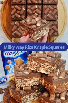 Tray Bake Recipes, Candy Recipes, Sweet Recipes, Baking Recipes, Dessert Recipes, Chocolate Easter Cake, Caramel Chocolate Chip Cookies, Chocolate Squares, Chocolate Topping