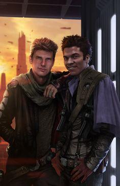 superheroesincolor:  Han n Lando by Rahzzah