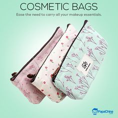 Ease the need to carry all your makeup essentials. #bags #COSMETICS #cosmeticbags #makeuplover #PROMOTION #wholesale #marketing #advertising #gift #Trending #Trends #EVENT #branding Promotional Bags, Event Branding, Wholesale Bags, Pencil Bags, Travel Toiletries, Makeup Essentials, Wash Bags, Toiletry Bag, Zipper Bags