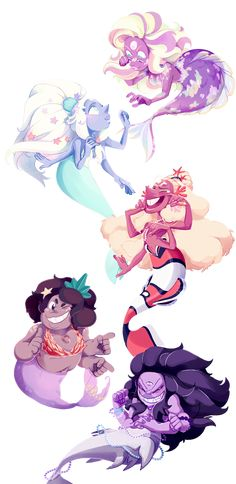 It's the fusion mermaid brigade! all together! I am so damn happy with…