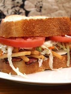 Pittsburgh Style Sandwich Recipe - What is a Pittsburgh style sandwich?  It is easy to recognize a Pittsburgh style sandwich. The french fries and coleslaw are the ingredients that make it so unique. Originating in a famous city eatery, locals and out-of-towners alike, have been enjoying this treat since the 1930s.