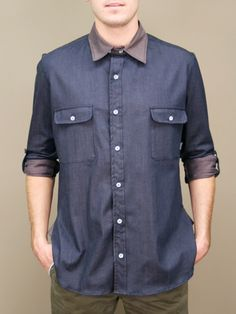civil clothing union button up mens shirt