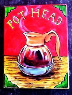 ☕ Coffee ♥ Craft ☕ Pot head coffee art