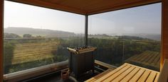 Sauna with a view at Mawell Resort