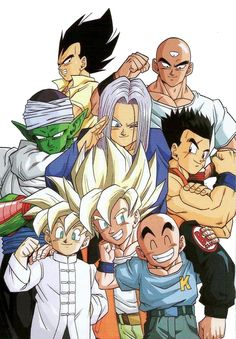 80s & 90s Dragon Ball Art — Larger, background-less version of this image.