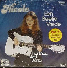 """Nicole - """"Een beetje vrede"""", dutch Version of """"Ein bisschen Frieden"""", the winning song of the Eurovision Song Contest 1982 from Germany"""