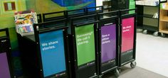 Edmonton Pubic Library Rebrand - Internal Signage- Book Carts