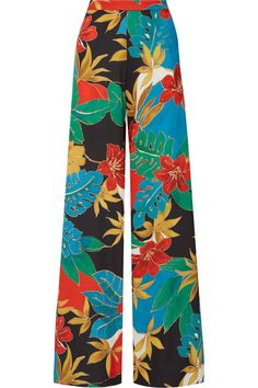 Multicolored stretch crepe de chine Hook and zip fastening at back 96% polyester, 4% elastane Dry clean Designer color: Jungle Hibiscus