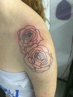 #rosetattoo #roses #tattoos #outline #tatted