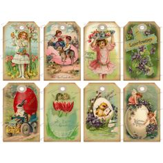 Vintage Easter Hang Tag 1 Printable by CharmedMemoryCollage