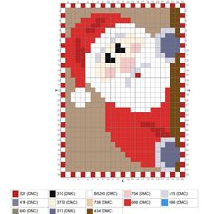 No peeking. I used the MFT Dienamics Cross Stitch Rectangle to make a 25 x 35 canvas and the stitched mod… Cross Stitch Christmas Cards, Santa Cross Stitch, Cross Stitch Fairy, Mini Cross Stitch, Cross Stitch Cards, Christmas Cross Stitch Patterns, Cross Stitch Embroidery, Hama Beads Christmas, Noel Christmas